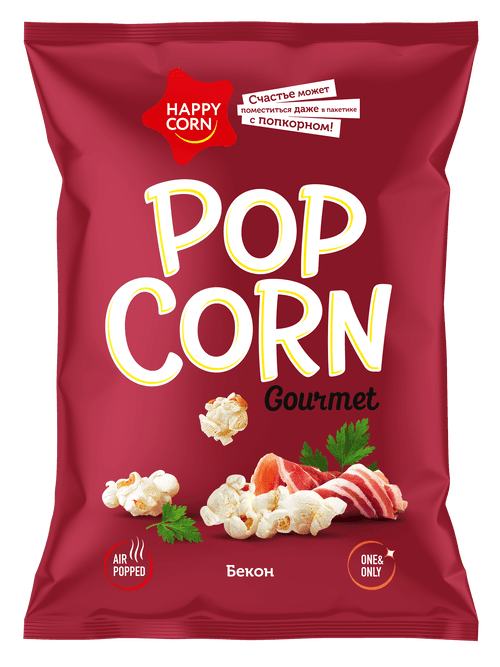 Попкорн «HAPPY CORN» Gourmet БЕКОН